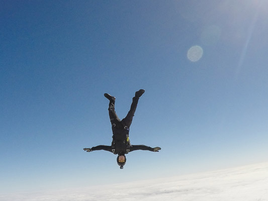 Head down skydiving
