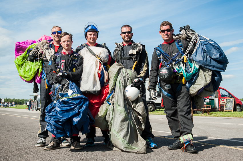 Parachute Display Team Photo