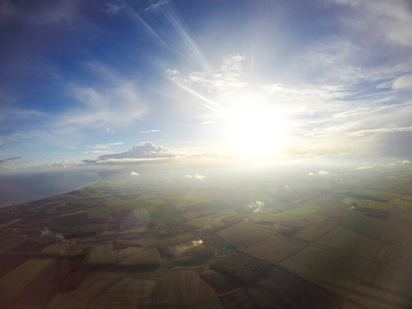 Charity skydive yorkshire view
