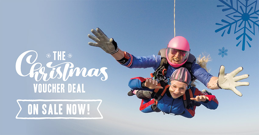 Skydive Gift Voucher for Christmas